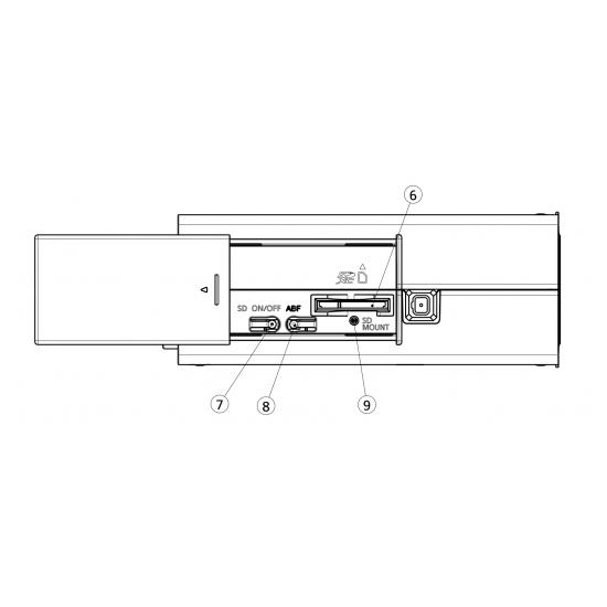 IP камера Panasonic WV-S1111 Вид сбоку
