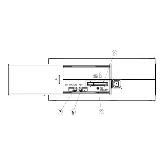 Корпусная IP камера Panasonic WV-S1131 - вид сбоку